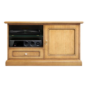 TV stand cabinet Art. 3820-QPZ in Blonde finish
