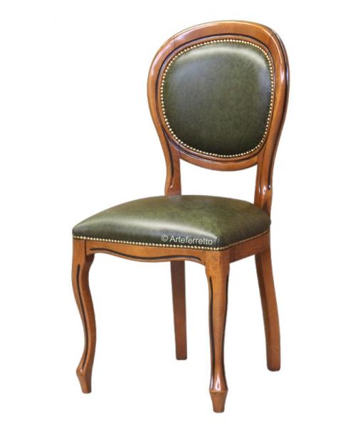 Beech wood dining chair with genuine leather. Sku 431-bul