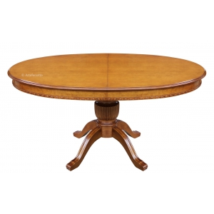 Oval table Sku. ER-228 in Super classic finish