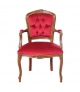 parisian armchair, armchair for living room, padded armchair, classic furniture, classic style armchair, wooden armchair