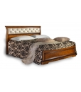 Upholstered headboard bed, solid structure, wooden bed, classic style bed, king size bed, queen size bed, Italian design bed, Bedroom furniture, bedroom,