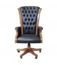 wooden executive armchair, swivel armchair, wooden armchair, office armchair, leather armchair, classic armchair, executive office armchair, office furniture, wooden armchair, classic style,