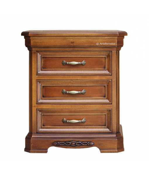 Classic bedside table in wood, SKU: NB-303
