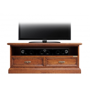 TV stand cabinet with sound-bar compartment Art. SB-106-Plus in Bassano finish