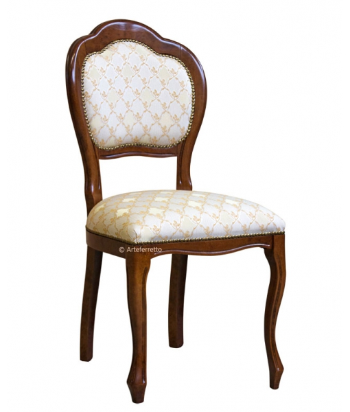 Classic dining chair. Backrest detail