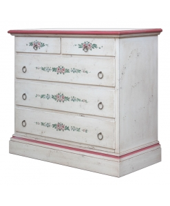 distressed dresser, bedroom dresser, wooden dresser, handmade dresser, handmade decorations, classic style dresser, 5 dawers chest, chest of drawers, classic style chest of drawers, bedroom chest, bedroom furniture, Italian design chest of drawer, wooden structure, decorated dresser, decorated chest of drawers