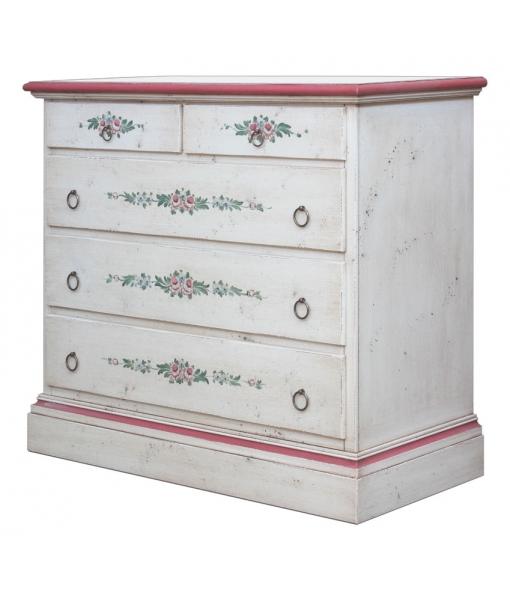 Distressed dresser, handmade decorations. Sku E-9241-R