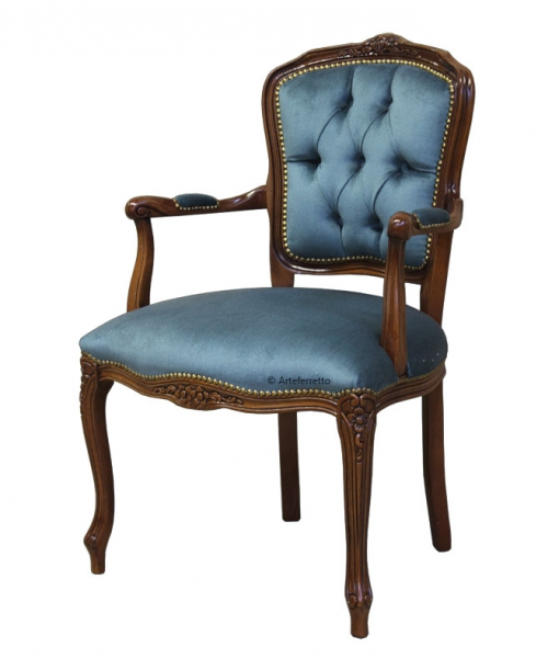 Parisian armchair in wood for living room. Sku GM-50