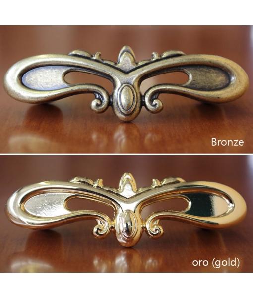 bronze and golden hardware