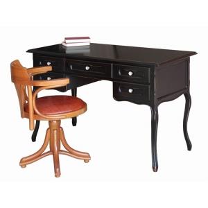 Desk art. 642-N in black and inner cherry colour