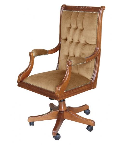 Classic swivel armchair for office. Sku GOLDEN-CLASS