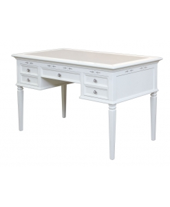 white desk, writing desk, office desk, wooden desk for study room, classic writing desk