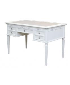 white desk, writing desk, office desk, wooden desk for study room, classic writing desk