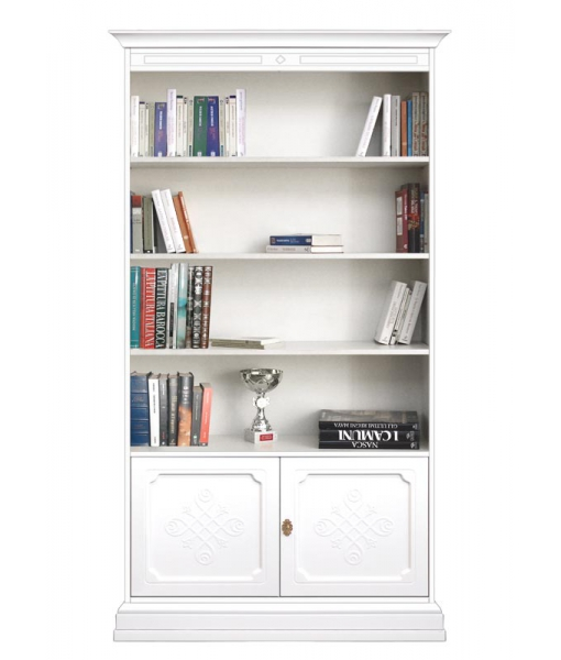 Wooden bookcase with engraved doors. SKu 201-AV-YOU