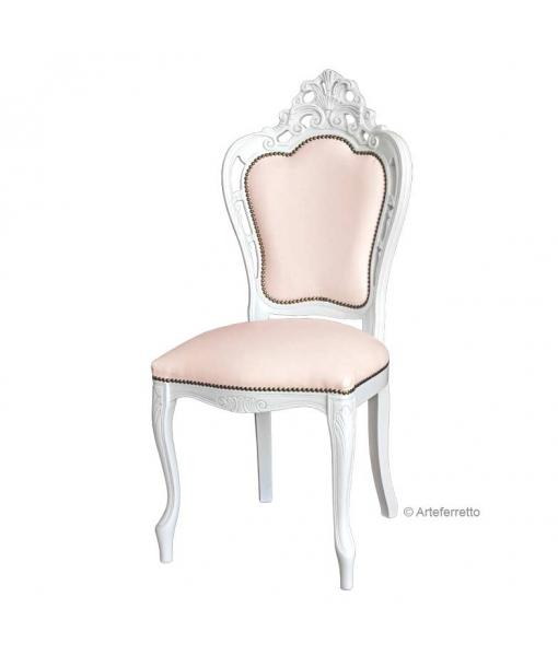 Carved chair Magic White, SKU: 2498-bi