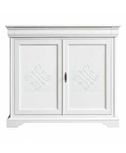 sideboard, Louis Philippe sideboard, classic sideboard, lacquered sideboard, 2-door sideboard, sideboard for living room, sideboard for dining room, elegant sideboard, white sideboard, wooden sideboard
