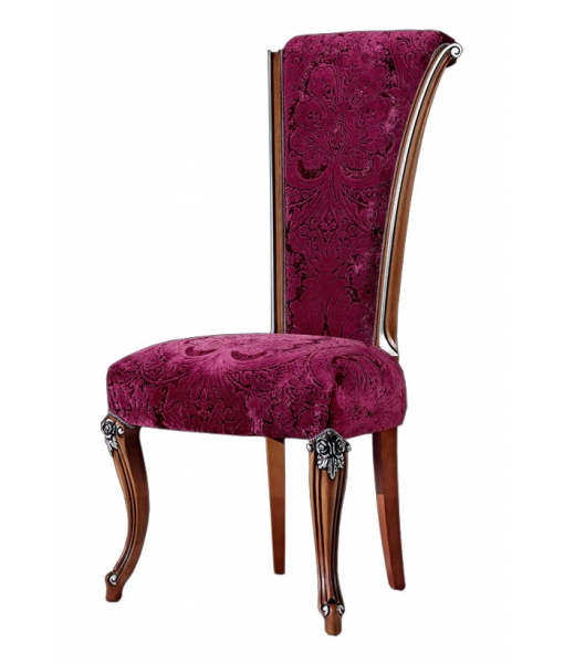 Elegant classic chair, comfortable chair, italian chair, wooden chair, upholstered chair,