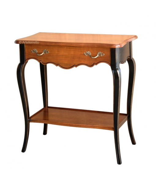 Console cherry wood, console table, classic console table,