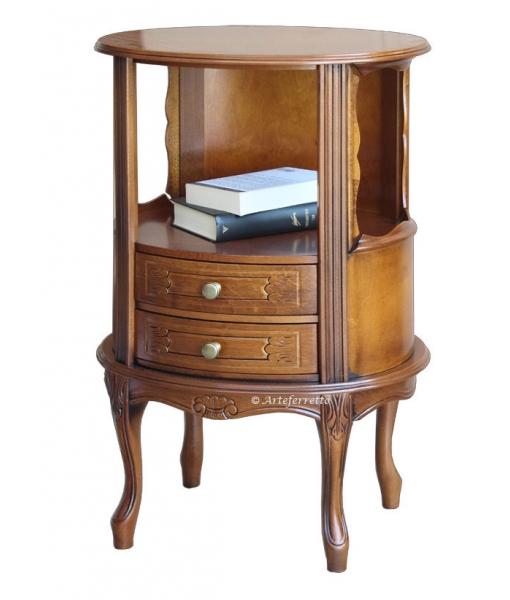 Oval side table in wood. sku. ER-848