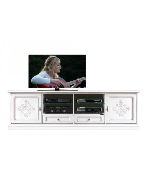 wooden tv cabinet, tv stand, classic tv stand, white tv cabinet, living room tv unit, italian design, classic furniture,