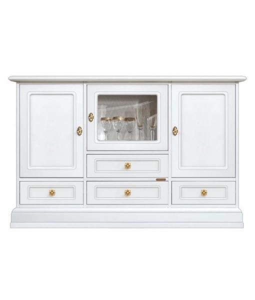 elegant sideboard, sideboard, white sideboard, dining room sideboard, classic sideboard, wooden sideboard with glass door,