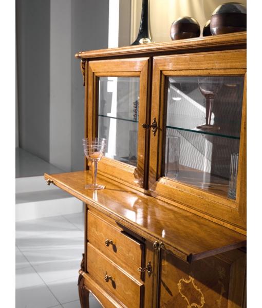 Wooden bar cabinet with display doors. Sku. N-08