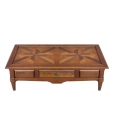 Cherry wood tessellated coffee table