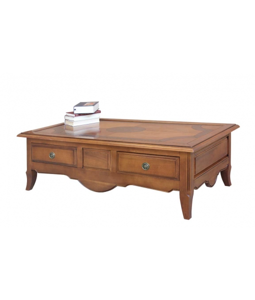 Solid wood low coffee table for living room. Sku RD-20