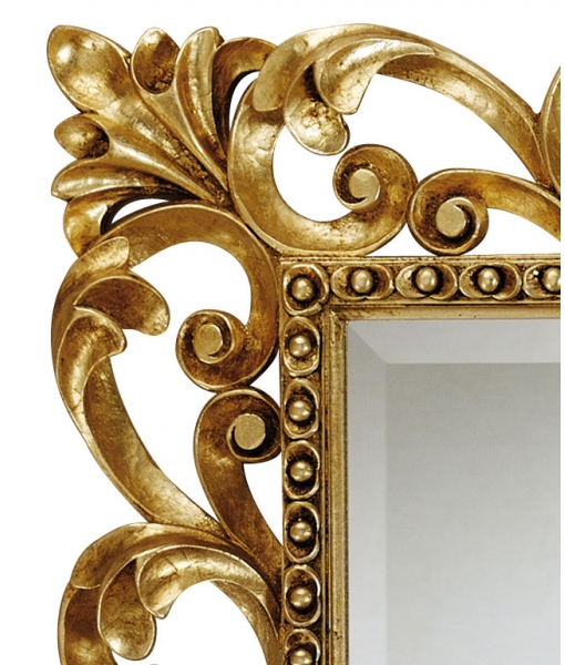 carved mirror, golden mirror, rectangular mirror, elegant mirror, entryway mirror