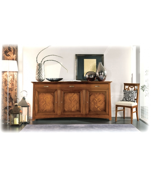 cherry wood furniture, classic inlaid sideboard, sideboard, cupboard, living room cabinet, wooden cabinet, wooden sideboard, living room sideboard, classic style, classic sideboard, inlaid sideboard,