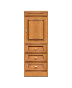 Modular narrow sideboard, wooden small cabinet storage, Multi-purpose narrow sideboard