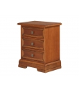 bedside table, 3 drawer bedside table, bedroom furniture, classic bedside table, bedroom, wooden bedside table