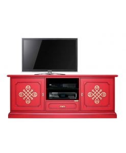 "Red tv cabinet ""Modena Gold"" 3059-red-you"