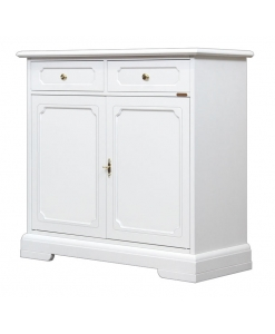 2 door 2 drawer sideboard, dining room sideboard, wooden sideboard, white sideboard, classic furniture, dining room furniture
