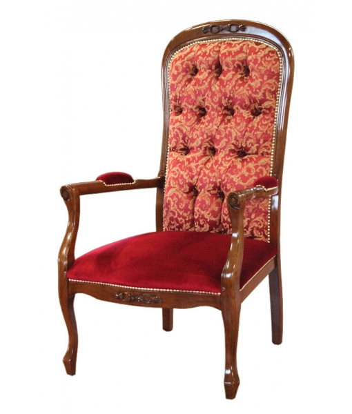 Buttoned back armchair, for living room. Sku 33-CAP