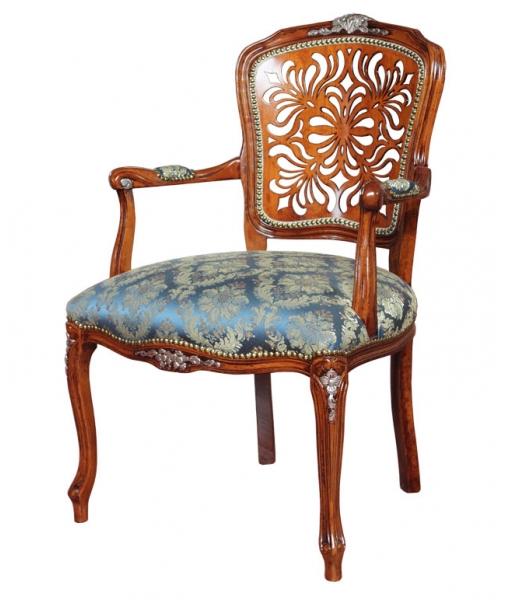 Parisian armchair with pierced backrest. Classic style. Sku. 330-TR