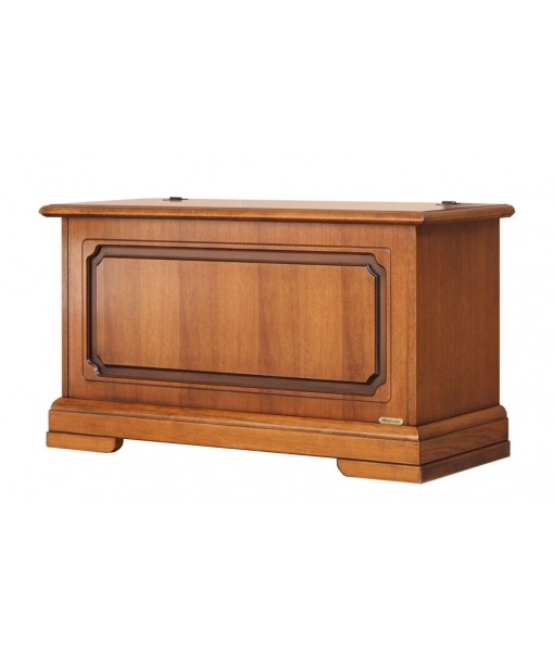 Wooden storage chest 100 cm with flap opening. Sku 36-SZ