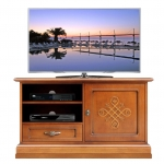 Classic line tv stand in wood, wooden tv stand, small tv cabinet, cherry tv stand,