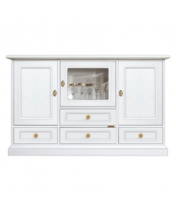 elegant sideboard, sideboard, white sideboard, dining room sideboard, classic sideboard, wooden sideboard with glass door,