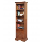 wooden bookcase, bookcase, classic bookcase, bookcase with door, bookshelf, living room furniture