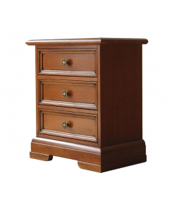 bedside table, 3 drawer bedside table, bedroom furniture, classic bedside table, bedroom, wooden bedside table