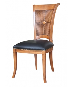 chair, classical chair, wooden chair, chair with leather seat