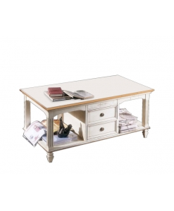 rectangular coffee table, rectangular table 2 drawers