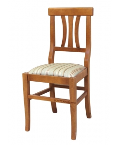 Chair with padded seat, chair, classic chair, wooden chair, chair for kitchen, everyday use chair