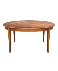 inlaid oval table , classical table, oval table, dining room table, wooden table