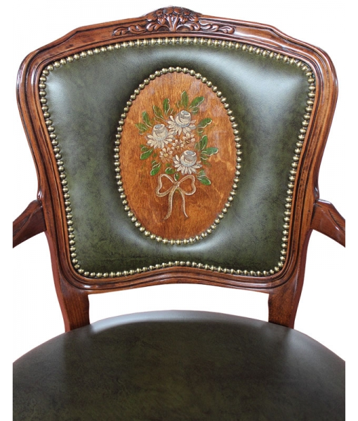 Handmade parisian armchair, armchair, living room armchair, padded armchair