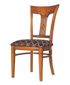 Carved chair, wooden chair, dining room chair, dining chair, solid chair, classic chair, Arteferretto