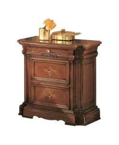 classic bedside table, bedside table, classic style, wooden bedside table,