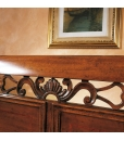 double bed, classic bed, wooden bed,