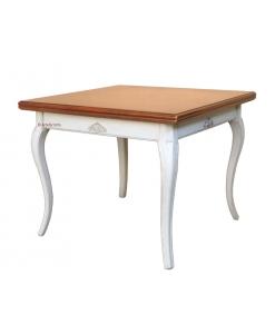 Flip top extendable table, extendable table, flip top table, dining table, oak wood table, table with inlay